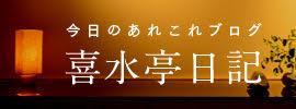 今日のあれこれブログ 喜水亭日記